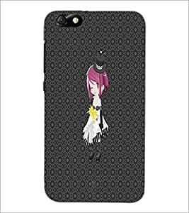PrintDhaba Hat Girl D-4556 Back Case Cover for HUAWEI HONOR 4X (Multi-Coloured)