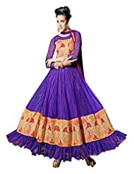 Fabboom Online Shopping For Purple Anarkali Suit
