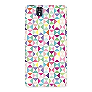 Cute Trangel Color Print Back Case Cover for Sony Xperia Z