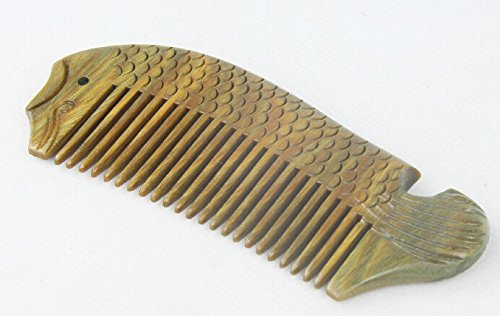 Hetty'S Handcrafted Natural Healthy Hair Care Fish Designed Sandalwood Comb - Anti Dandruff, Non-Static And Eco-Friendly For Long, Curly Hair With Natural Aromatic Smell, Great For Scalp And Hair.