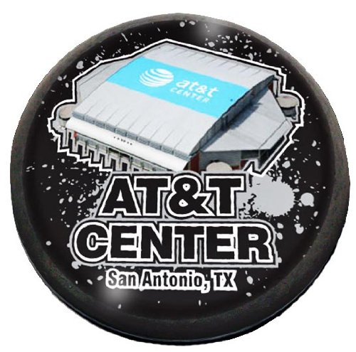 """NBA San Antonio Spurs AT&T Center in 2"""" Crystal magnet with Colored Window Gift Box"""