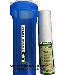 Luzon Dzire Transparent Pre-Filter Complete Kit + Antiscalant Balls for Water Purifier RO