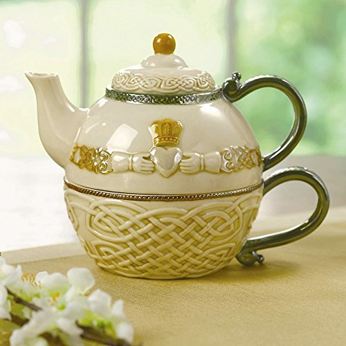 Jewelry Best Seller Claddagh Ceramic Tea For One Set