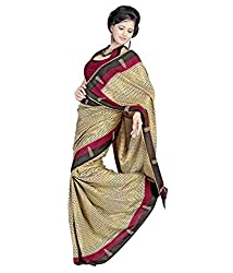 Miraan Silk Printed Saree (SD18169_Beige)