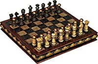 Deco 79 Poly-Stone Chess Set, 10 by 3-Inch