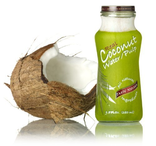 Real Coconut Water with Pulp, 9.5 Ounce -- 12 per case.