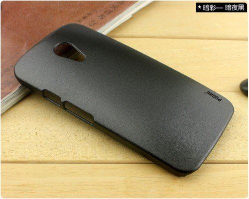 Pudini Dark Series Back Case Cover Moto G2 Moto G 2nd gen XT1068 - BLACK - Free Clear Screenguard