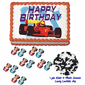 Racing Cakes (dprace3)- Do It Yourself Decorating Package 1 - 14 Total Pieces