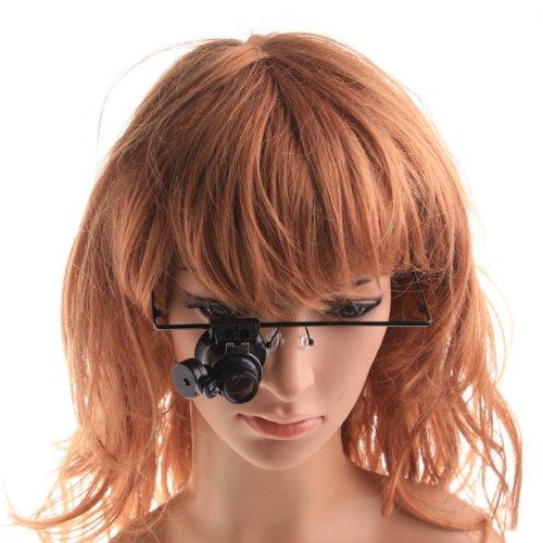 Newsky 20X Magnifier Jeweler Watch Repair Eye Glasses Loupe Magnifying Led Light Uk
