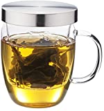Loose Leaf Tea Infuser Cup From Infinite Tea, the Equilibrium Borosilicate Glass Mug Is a Perfect Tea Maker with Stylish Design, Easy to Use, Easy to Clean, Upgrade Your Tea Drinking Experience Now!