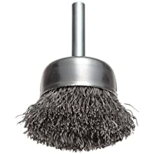 Weiler Vortex Pro Wire Cup Brush, Round Shank, Carbon Steel, Crimped Wire