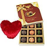 Vibrant Truffles Treat With Heart Pillow - Chocholik Luxury Chocolates