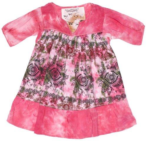 Custo Growing Belle Vibrant Fucsia Asymmetric Girl's Dress