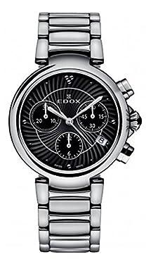 Edox Women's 10220 3M NIN LaPassion Analog Display Swiss Quartz Silver Watch
