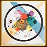 ポスター ワシリー カンディンスキー Circles in a Circle 1989 額装品 ドルールフレーム-B(ゴールド)