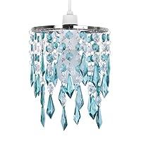 MiniSun - Elegant Chandelier Design Ceiling Pendant Light Shade With Beautiful Acrylic Jewel Effect Droplets from MiniSun