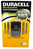 Duracell StayCharged Rechargeable NiMH Battery Value Pack with 4AA, 4 AAA and Charger