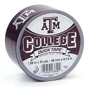 Duck Brand 240229 Texas A&M University College Logo Duct Tape, 1.88-Inch by 10 Yards, Single Roll