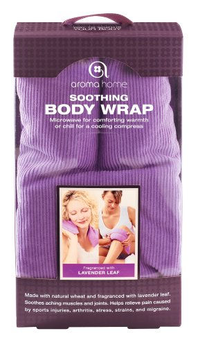 Aroma Home Wheat and Lavender Leaf Purple Microwavable Body Wrap