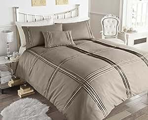 Modern dettagli trapuntati con lustrini color lino set - Amazon biancheria letto ...