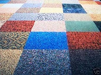 Commercial Carpet Tile Random Assorted Colors Household