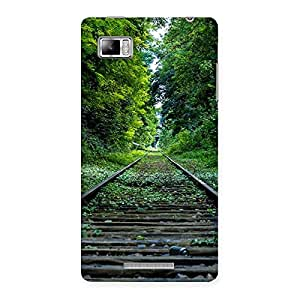 Beautiful Track Green Back Case Cover for Lenovo Vibe Z K910