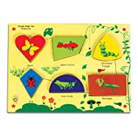 Skillofun Fun Geo Shape Tray - Insects (Raised), Multi Color