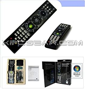 Azend Group MediaGate GP-IR02BK Windows Vista Home Premium and Windows Vista Ultimate MCE Remote Control, 2 Channel IR (Black)