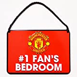 Manchester United No.1 Fan Bedroom Sign - Multi-Colour