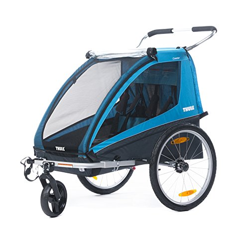 Thule Coaster2+ Bicycle Trailer/Stroll, Blue - 1