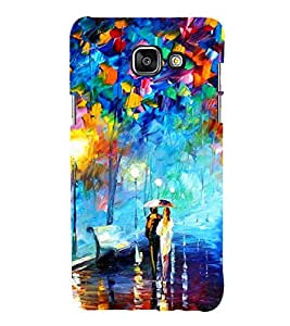 Love Couple Painting 3D Hard Polycarbonate Designer Back Case Cover for Samsung Galaxy A3 (2016) :: Samsung Galaxy A3 2016 Duos :: Samsung Galaxy A3 2016 A310F A310M A310Y :: Samsung Galaxy A3 A310 2016 Edition