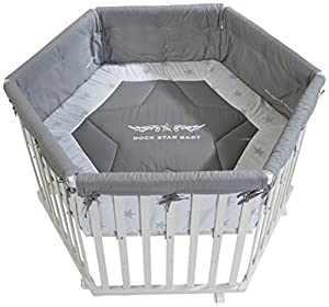 roba Rock Star Baby 2 0232W RS2 Hexagonal Playpen White by roba