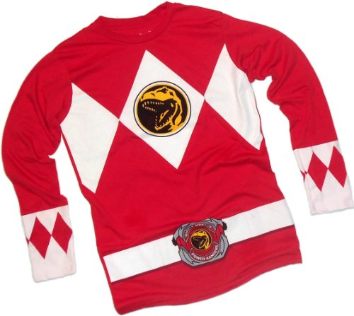 Red Ranger Costume -- Mighty Morphin Power Rangers Long-Sleeve T-Shirt