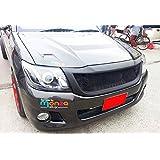Front Grill Grille Black Net Abs for Toyota Hilux Vigo Kun Champ Mk7 12 13 14 15 (Color: Black)