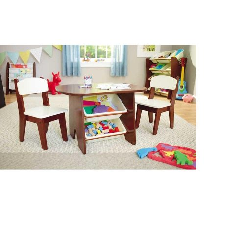Kids Table And Chairs Set Espresso: Imaginarium Table And 2 Chair Set