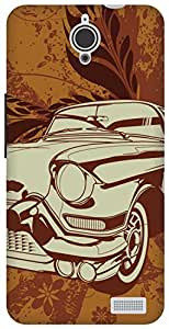The Racoon Grip vintage ride hard plastic printed back case / cover for Alcatel Onetouch Idol X 6040D