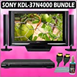 Sony Bravia N-Series KDL-37N4000 37in. 720P Widescreen LCD HDTV Black + Sony DVD Player w/ Accessory