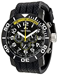 TW Steel Men's TW75 Grandeur Black Dial Watch