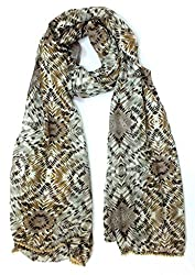Craftshub Stylish Printed Pompom Multicoloured Stole Scarf