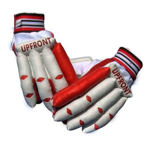 Upfront Qvu Batting Gloves - JUNIORS. Random colours , Boys RH 8-11 year old