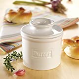 The Original Butter Bell Crock by L. Tremain, Cafe Collection White