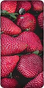 Strawberries Printed Back Cover Case For Lenovo Vibe P1