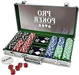 Tactic - 03092 - Poker - Propoker : Mallette Métal 300 Jetons