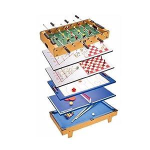 kinder multifunktions spieltisch billard kicker airhockey schach kegeln spielzeug. Black Bedroom Furniture Sets. Home Design Ideas