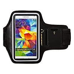 [Lifetime Hassle-Free Warranty] Gear Beast Deluxe Sports Armband + Key Holder for Apple iPhone 6 (4.7) & Samsung Galaxy S5 / S4 / S3 & Samsung Alpha & Sony Xperia Z3 & HTC & Nexus & Nokia & Droid & More (Black)