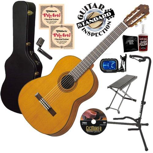 Yamaha CG162C Classical Guitar COMPLETE BUNDLE w/ Hard Case