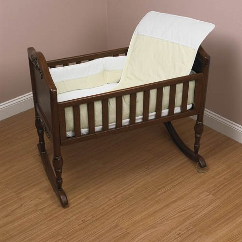 Baby Doll Bedding Kingdom Cradle Bedding Set, Ecru