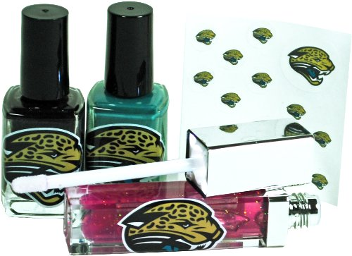 Nfl Jacksonville Jaguars Led Lip Gloss And Nail Polish