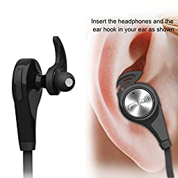 Bluetooth Headphones, Wireless Earbuds Bluetooth Headset with mic Sports running Earphones for iPhone Sony Samsung motorola LG (black)