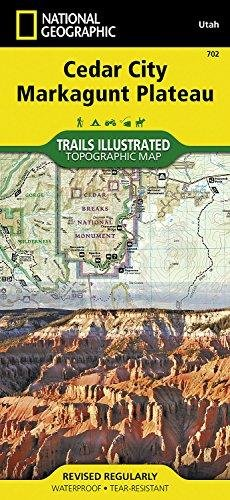 Cedar City, Markagunt Plateau (National Geographic Trails Illustrated Map)